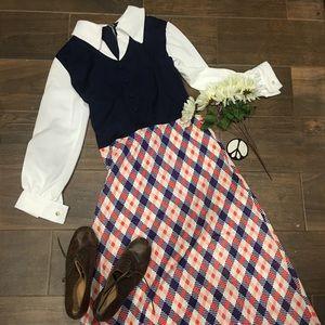 Dresses & Skirts - Vintage 70's Maxi Dress Size 12